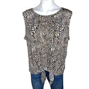 Adrianna Papell Leopard Print Top